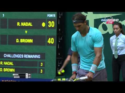 ATP 2014 Halle R2 M1 Nadal vs Brown GER