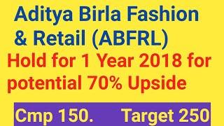 Aditya Birla Fashion & Retail - Stock Review, Multibagger Share 2018, Target, Latest News