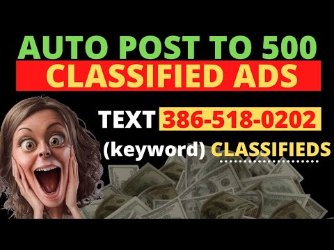 How To Post To 500 Classified Ads | Automatically Posting Ads On Classifieds