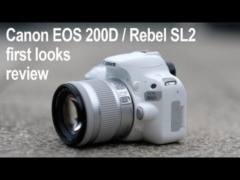 Canon EOS 200D Rebel SL2 review - first looks