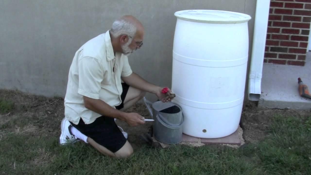 Diy rain barrel kit youtube for Diy small rain barrel