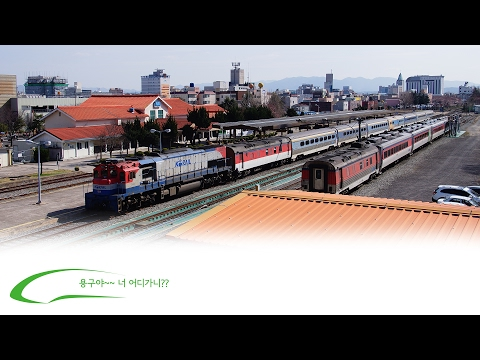 Donghae Nambu line Pohang Sta and section center of a city Vanished passing train