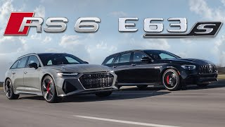 MONSTERS! 2021 Audi RS6 Avant vs Mercedes-AMG E63S Wagon Review