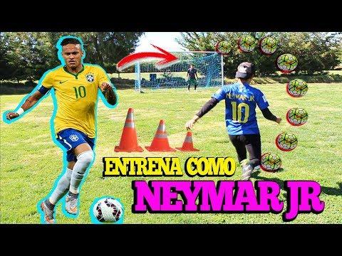 NEYMAR JR - Ejercicios Para Mejorar En El Fútbol - Entrena como Neymar