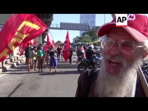Roads blocked, transport delayed in Brazil strike