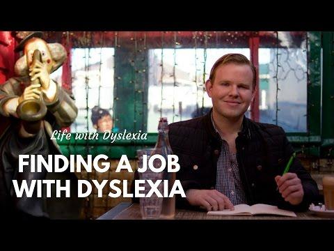 Dyslexia: Finding a job