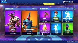 BOUTIQUE FORTNITE du 19 Janvier 2019 ! ITEM SHOP January 19 2019 !