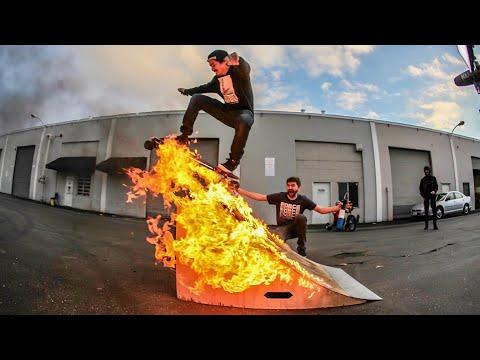 Highest Wallride on Electric Skateboard Challenge!