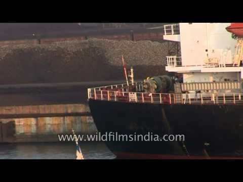 Cargo ships and vessels in Port of Paradip, Odisha