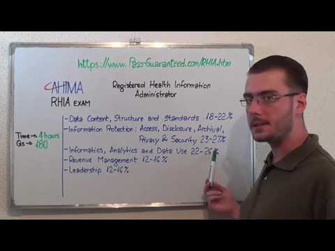 RHIA – Registered Exam Health Test Administrator Questions