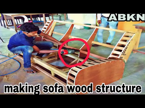 how to make sofa wood structure reclainer type making