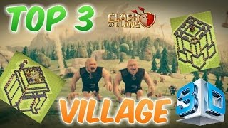 TOP 3 - 3D BASE + SPEED BUILD | Clash Of Clans