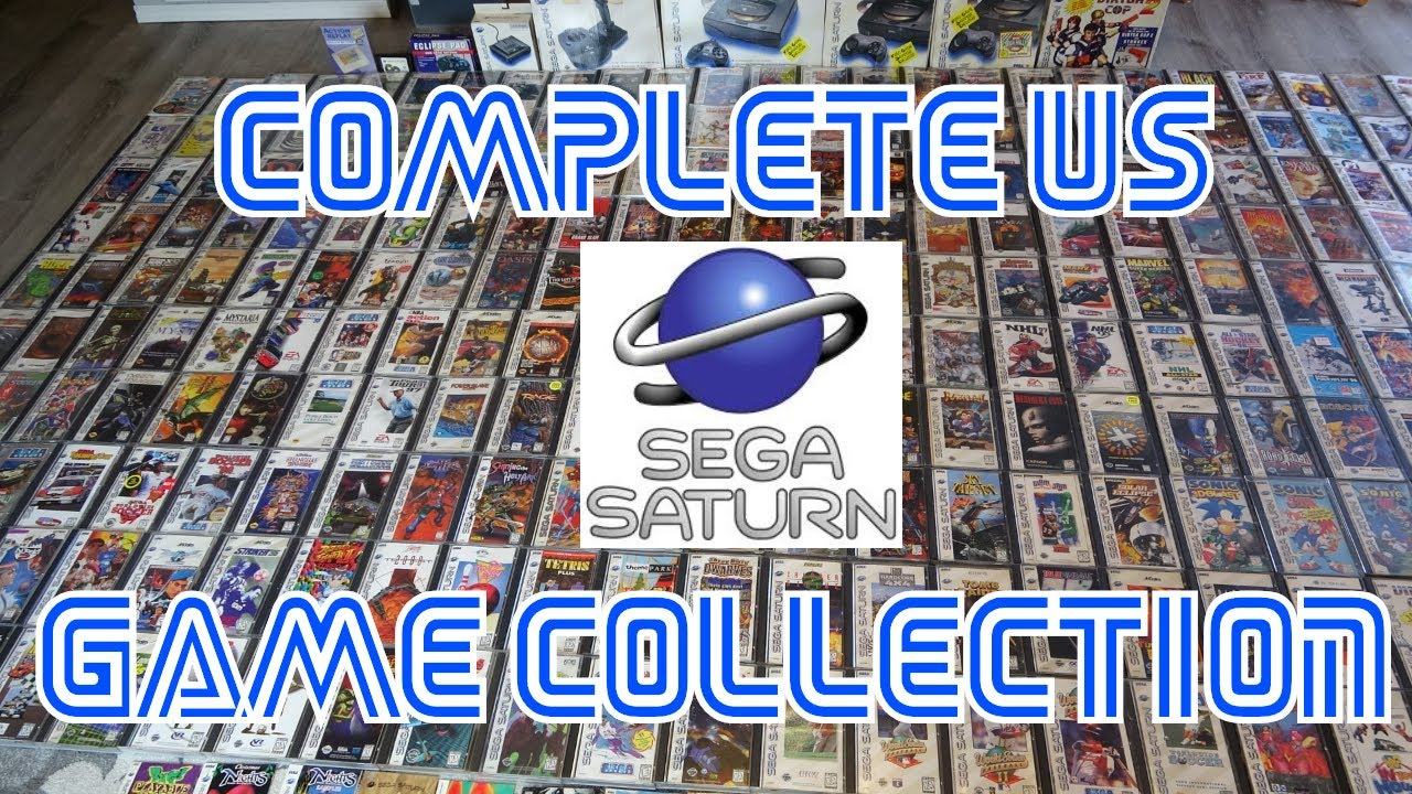 My Complete Us Sega Saturn Game Collection Youtube