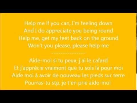 Glee - Help! / Paroles & Traduction