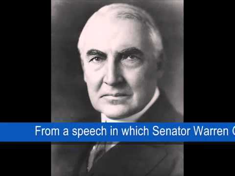 Sen. Warren G. Harding - America First (1920)