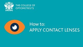 How to: Apply contact lenses