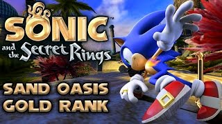 Sonic and the Secret Rings - Sand Oasis - All Missions with Gold Rank