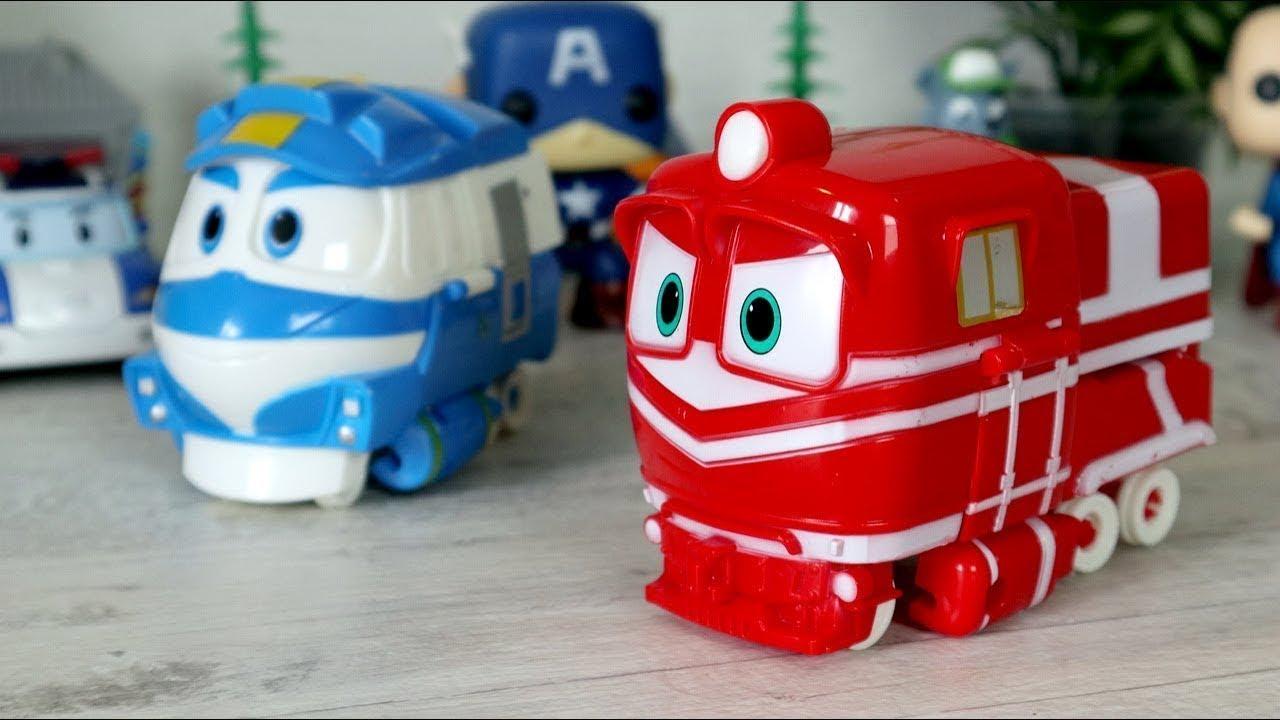 Роботы - Поезда Альф и Кей. Роботы - трансформеры. Видео с ...