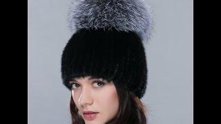 Очень красивая вязанная норковая шапка с помпоном из чернобурки. Купить шапку(Шапка из видео http://bit.ly/1HL7H6s. Магазин шапок из натурального меха http://bit.ly/1jDZzZO. На сайте ALIEXPRESS Вы с легкостью..., 2015-12-04T19:55:34.000Z)