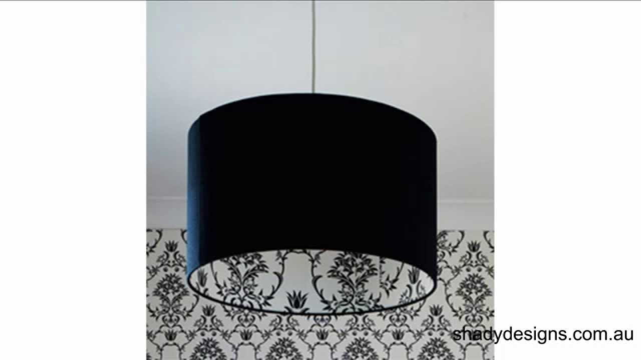Adding A Material to The Inside of An Existing Lampshade - YouTube