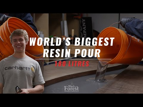 World's Biggest Resin Pour