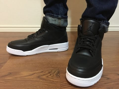 cf2fb4213d9017 Jordan Retro 3 Cyber Monday Black White unboxing and on feet review