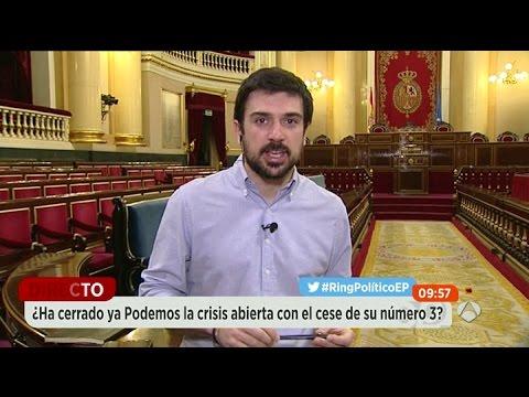 """Ramón Espinar: """"Iglesias no quiere 'pablistas', sino militantes críticos y leales a Podemos"""""""