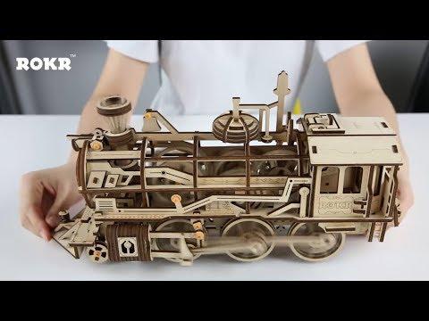 Mechanical gear series--DIY Wooden Locomotive LK701
