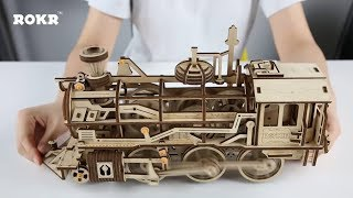Mechanical gear series--DIY Wooden Locomotive LK701 - assembly video