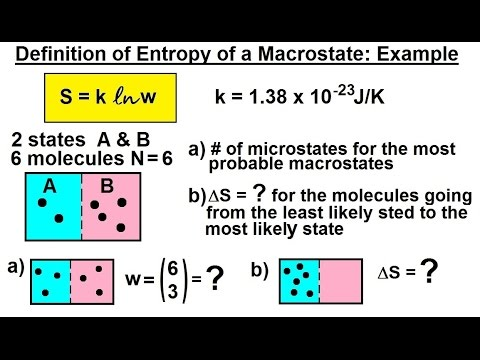 Physics - Statistical Thermodynamics (16 of 30) Definition of Entropy of a Microstate: Example***