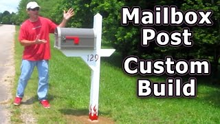 How to Install Mailbox Post Build from Scratch Gibraltar High Grove Large Woodworking dig hole