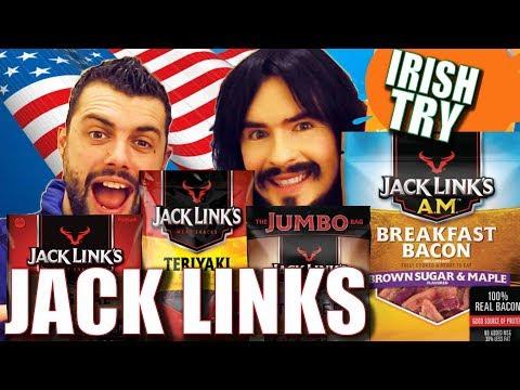 Irish People Taste Test American JACK LINKS!! - 'Meat Jerky Snacks'