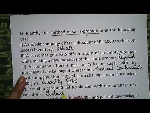 Sales Promotion (Marketing) Case Study 21 | Business Studies 12th