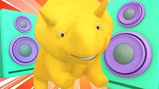 Lerne mit Dino - Dino der Dinosaurier lernt etwas über Musik - Lehrreiche Cartoons für Kinder  🚚