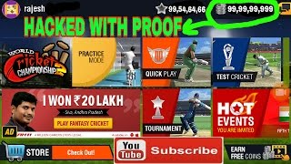 Hacked wcc2 game earn unlimited money coin in world cricket championship 2 with proof