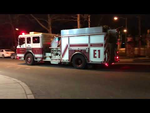 KEARNY FIRE DEPARTMENT ENGINE 1 RESPONDING MODIFIED TO A EMS CALL ON SCHUYLER AVENUE IN KEARNY, NJ.