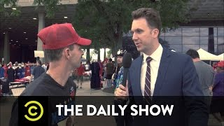 Jordan Klepper gets Donald Trump supporters to share their non-reality-based opinions about Hillary Clinton and President Obama. Watch full episodes of The ...