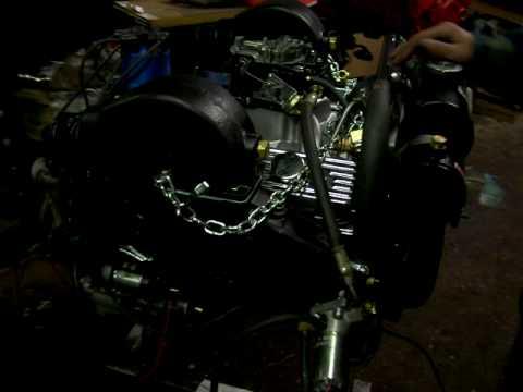 Reverse Rotation Marine Chevy 350 Mercruiser Turn-Key engine