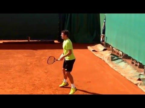 Stan Wawrinka Practice Monte-Carlo 2016 ( HD )