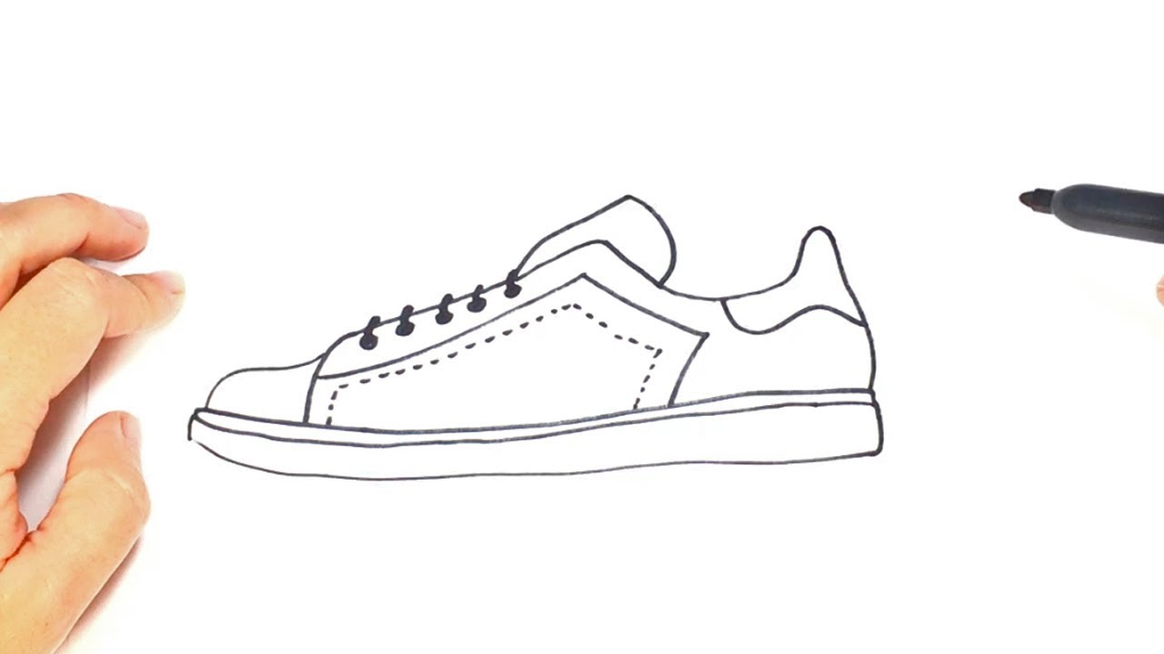 How to draw a Sneakers Step by Step | Sneakers Drawing Lesson