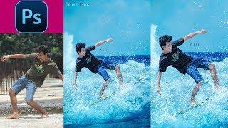 Surfing Game Effects Photoshop  Photo Manipulation Tutorials