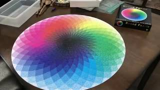 Round Jigsaw Puzzle Time Lapse- Oddly Satisfying