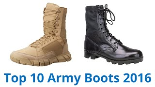 10 Best Army Boots 2016