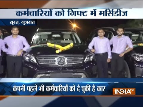 Gujarat: Surat diamond merchant gifts Mercedes-Benz SUVs to employees