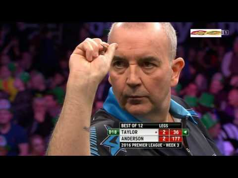 PDC Premier League 2016 Week 3 Phil Taylor vs Gary Anderson