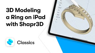 3D modeling a ring on iPad with Shapr3D