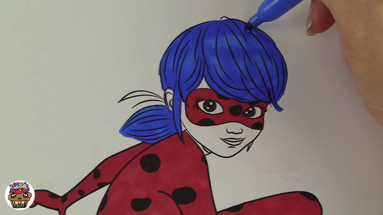 Miraculous Ladybug Coloring Book Pages Videos Kids Art | Toy ...