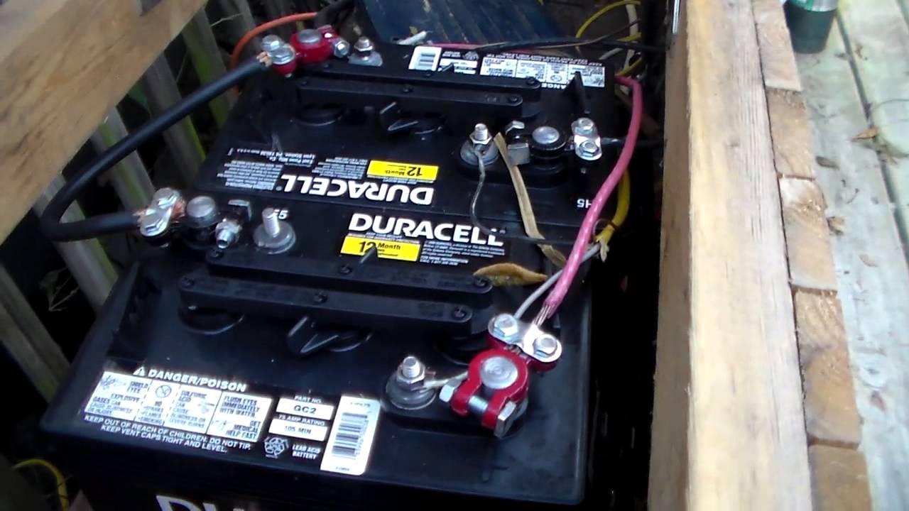 Sams club golf cart battery for solar battery (Duracell