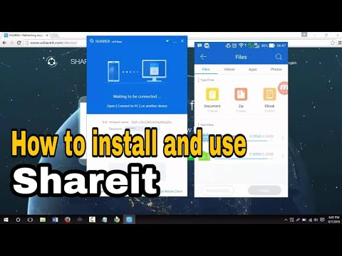 how to install, use, and connect share it pc with android