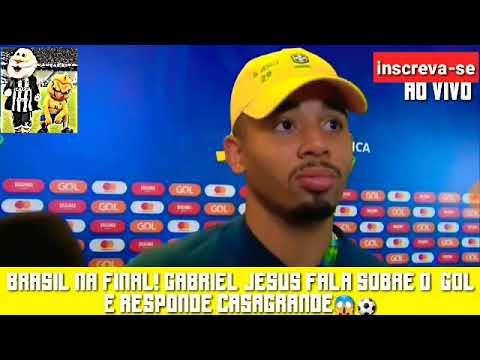 EITA😱• Gabriel Jesus RESPONDE CASAGRANDE, DESABAFA E FALA SOBRE O GOL